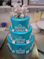 Blue wedding cake by Larissa-Rasputin