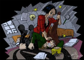 Daria and Jane catfight by Christo-LHiver