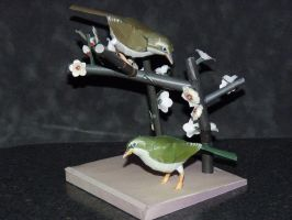 papercraft small birds by zandere123
