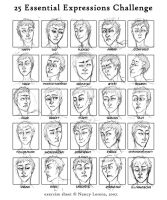 25 Expressions by LazyGreen