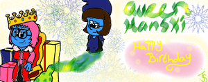 Hanski's Birthday - Quenn is born by TeenSmurfette