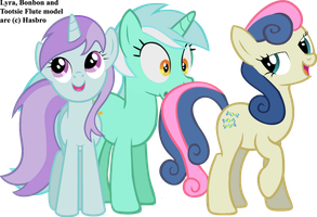 Lyra and Bonbon's Family by dlazerous