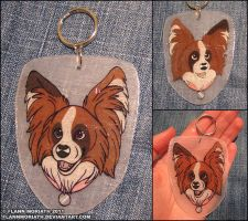 Papillon Keychain by FlannMoriath