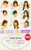 FONT.~ GIRLS' GENERATION_Kissing You by Solita-San