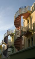 Spiral Staircase 2 by Rivendell-PhotoStock