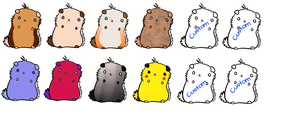 12 Ham Ham Adopts by Kinetic-Passion