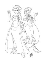 Line - Frozen Elsa and Anna by Mono-Phos