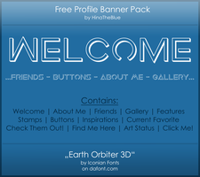 Free Banner Pack :: Earth Orbiter 3D (black|white) by HinaTheBlue