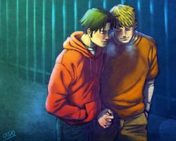 Walking - Billy and Teddy by Cris-Art