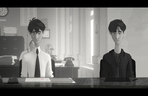 Myself and George (Paperman) by zzrandomzero