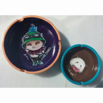 Teemo and Poro ashtrays by ezgicelep