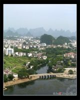 Photo: Guilin Bridge View by Insidious-Ink