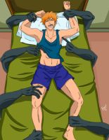 Ichigo Tickled by the Monster Hands Under the Bed by Bowen12a