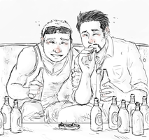 IronMan+Hawkeye : BROS by LadyNorthstar
