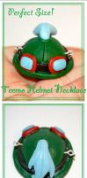 LoL: Teemo Helmet Necklace Charm by Railey98