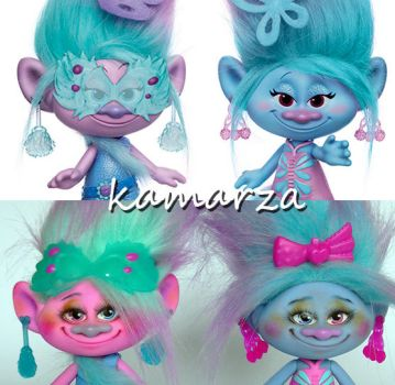 Trolls Twins repaint before and after by kamarza