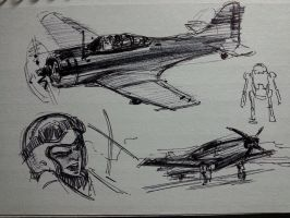 3 by 5 sketchbook samples by FUNKYMONKEY1945