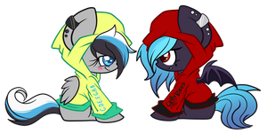 Janinie and Evanthe Hoodies by GlitterBell