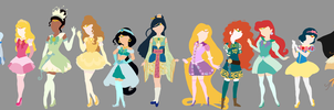 Sailor Disney Princesses by attercopter