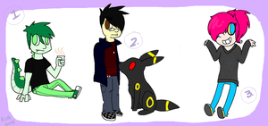 People point adoptables - 35 points each ALL TAKEN by Sliced-Penguin