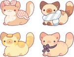 [OPEN]Neko Atsume (or just kitties!) Adoptables #4 by witchie-pie