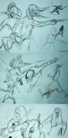 Prince Nuada training sketches by 5akuraD1va
