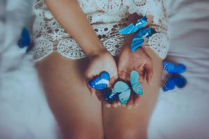 The Blue Butterfly III by EmiNguyen