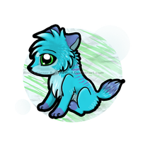 Chibi wolf by RonTheWolf