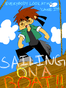 Justin's on a boat by Sacchi
