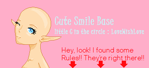 Cute Smile Base by SugaryLovewish