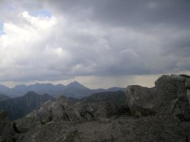 Landscape stock 63 mountains by Finsternis-stock