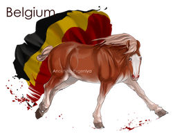 Horse Hetalia:  Belgium by Moon-illusion