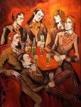 absinth drinkers by LordOrlando