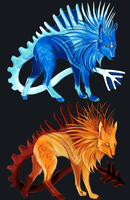 fire and ice (auction) (closed) by cute-she-wolf