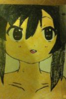 Azusa from K-ON!! Drawing by belxfran-desu