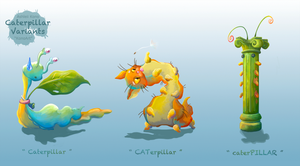 Caterpillar Variants by KonoArt