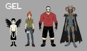 GEL Character Line-Up by AndrewKwan