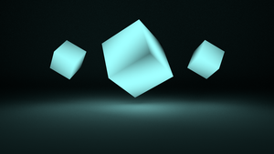 Floaty Blue Cubes by TidestManager1