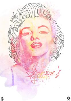 Monroe's  Psychedelic by Amarelle07