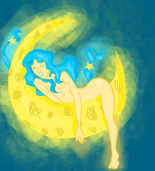 The woMan in the Moon by Ohchinchin