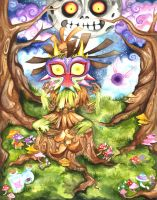 Skullkid and Majora's Mask by deliriium