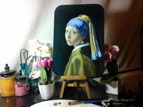 Study of Girl with a Pearl Earring by Vermeer by Veronika-Art