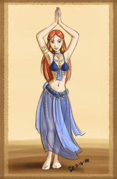 Bellydancer in Blue by bellsandy
