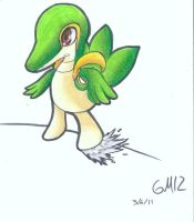 Snivy's serious by GM12