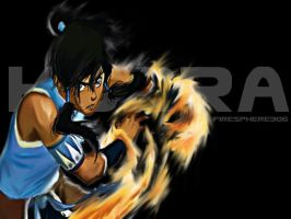 Korra-Digital Painting by Firesphere306