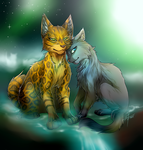 Warriors: Leopardstar and Mistystar by Marshcold