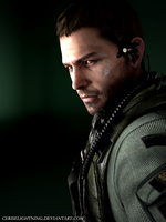 Chris Redfield render by ceriselightning