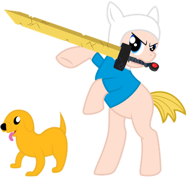 My Little Finn and Jake Redux by ThatFatBrony