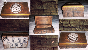 Nordic Style Box(Smite inspired) ~ Woodcarving ~ by Silverfoxxe