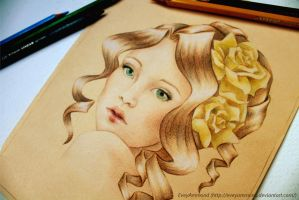 Dreamer - Yellow Rose by Poppysleaf